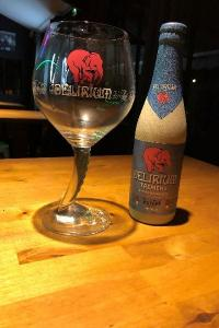 La Delirium Tremens, bière blonde, arômes légèrement malté