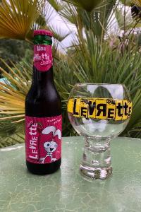 La Levrette Cherry, bière douce blanche  au jus de cerises, Brue-Auriac