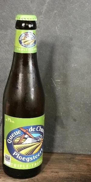 La queue de charrue triple, bière blonde en bouteille, Brue-Auriac